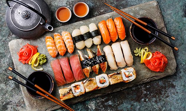 Afhalen: sushibox (21, 46 of 76 stuks) van Hello Sushi