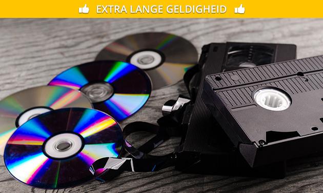 Omzetten van videoband(en) naar dvd of MP4