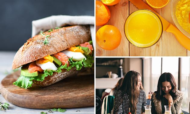 Afhalen: lunchproeverij + jus d'orange