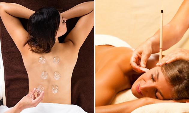 Cuppingmassage of oorkaarsbehandeling