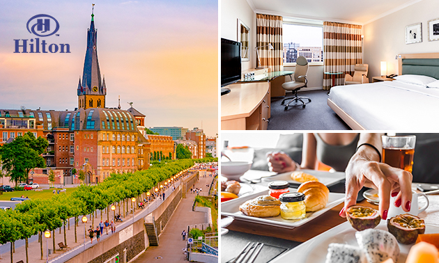Overnachting(en) + ontbijt bij Hilton Düsseldorf