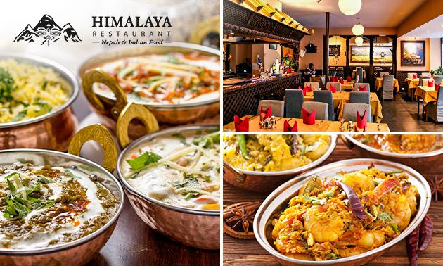 Afhalen: 2-gangen keuzediner bij Himalaya Restaurant
