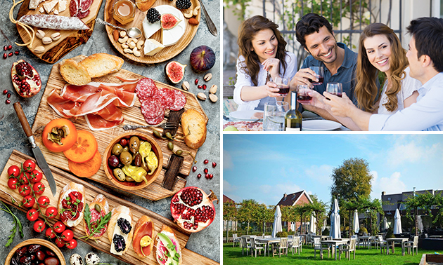 Tapasplank + fles wijn voor 2 bij Hof Van Heusden