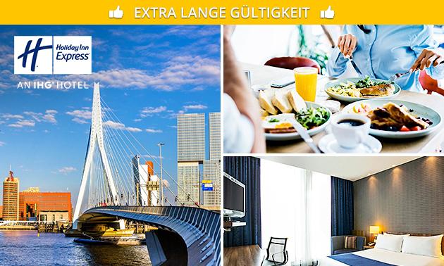 Übernachtung + Frühstück für 2 in Rotterdam