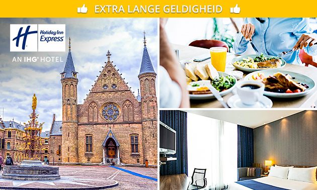 Overnachting + ontbijt voor 2 in hartje Den Haag