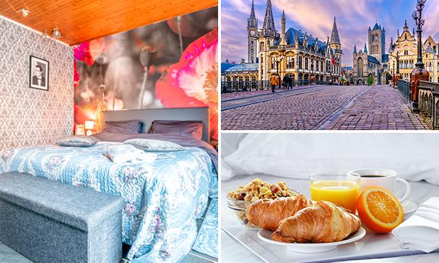 Overnachting voor 2 + ontbijt in Gent