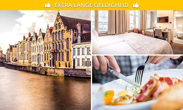 Overnachting + ontbijt voor 2 in hartje Brugge