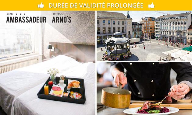 Nuit(s) + sauna + petit-déjeuner pour 2 au coeur d'Ostende