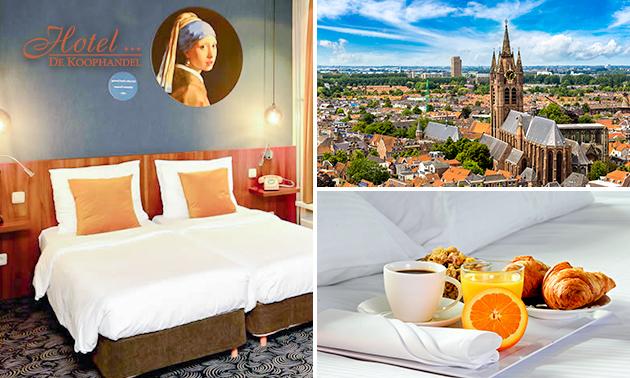 VIP-overnachting voor 2 + ontbijt in hartje Delft