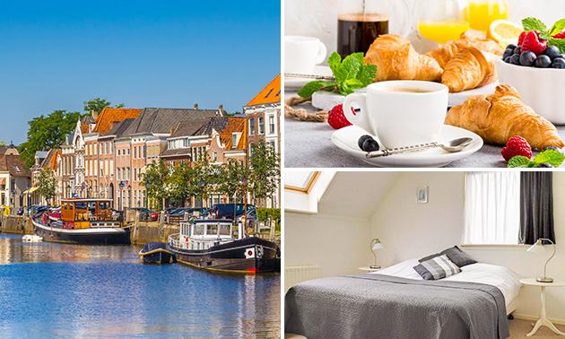 Overnachting(en) voor 2 + ontbijt + late check-out nabij Zwolle