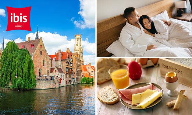 Overnachting(en) voor 2 + ontbijt in hartje Brugge