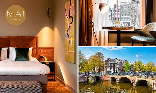 Overnachting(en) voor 2 + ontbijt in hartje Amsterdam