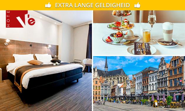 Overnachting + ontbijt voor 2 in hartje Mechelen