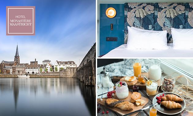Luxe overnachting voor 2 + ontbijt in hartje Maastricht