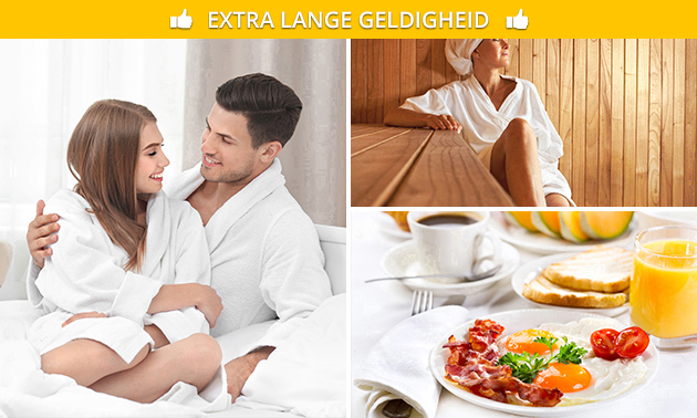 Overnachting(en) + ontbijt + wellness voor 2