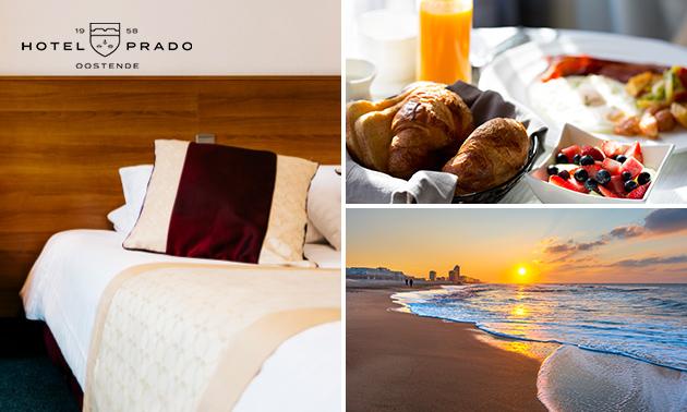 1 of 2 overnachtingen voor 2 + ontbijt + cava in hartje Oostende