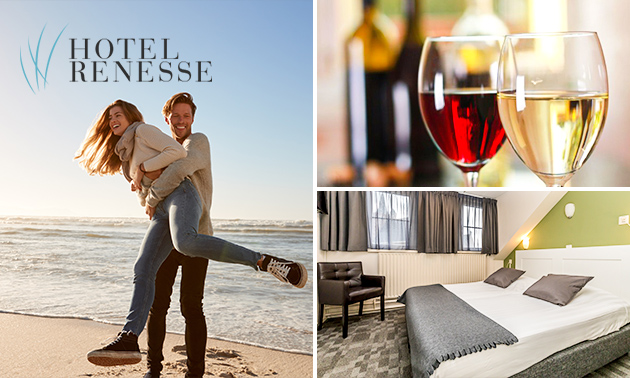 2 overnachtingen aan zee + ontbijt + wijn voor 2