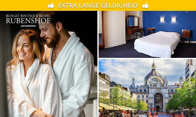 Overnachting + ontbijt voor 2 personen in Antwerpen