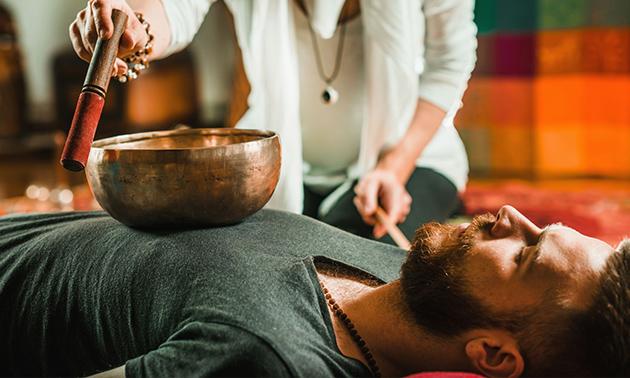 Klankschaalmassage (60 of 90 min) voor 1 of 2 personen