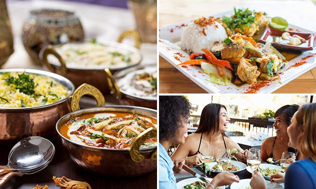 Thuisbezorgd of afhalen: Indiase rijsttafel voor 2