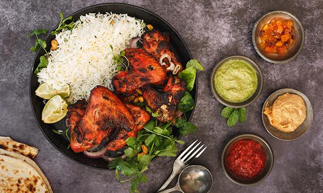 Menu en 3 services chez Indian Flavour