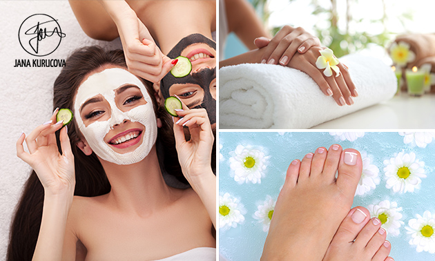 Gelaatsbehandeling + manicure- of pedicurebehandeling