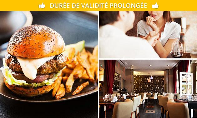 Burger ou moules + frites au coeur de Bruxelles