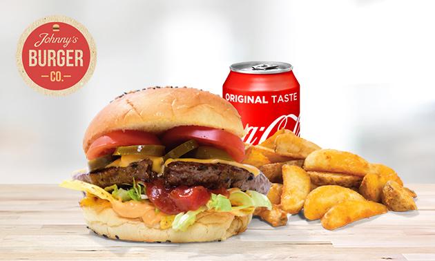 Afhalen: burgermenu naar keuze bij Johnny's Burger