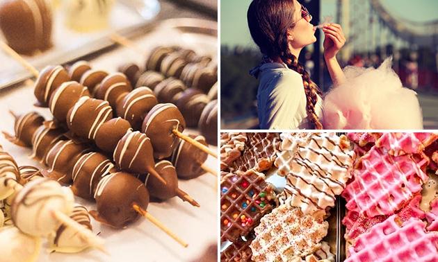 Afhalen: 4 fruitspiesen met chocolade of zoet pakket