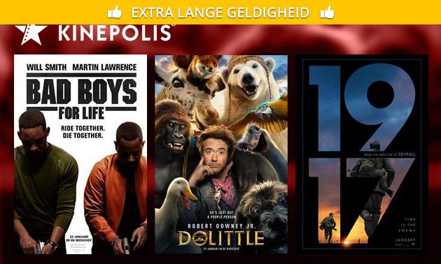 Billet de cinéma pour Kinepolis