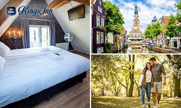 1 of 2 overnachtingen voor 2 + ontbijt in hartje Alkmaar