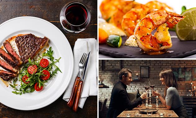 Thuisbezorgd of afhalen: 4-gangen keuzediner + wijn
