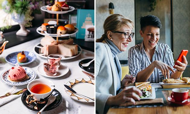 High tea + welkomstdrankje bij Koffiehuis De Branderij