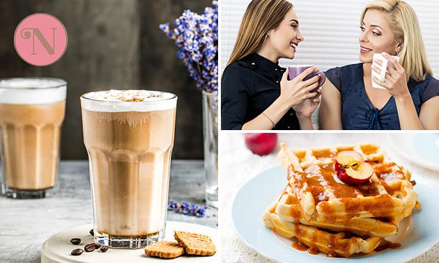 Afhalen: luxe wafel + warme drank naar keuze