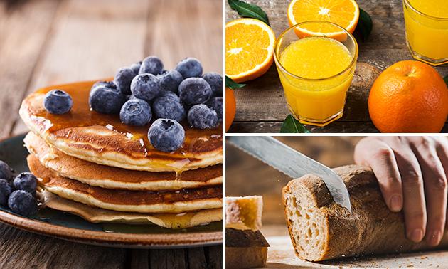 Afhalen: complete brunch + jus d'orange
