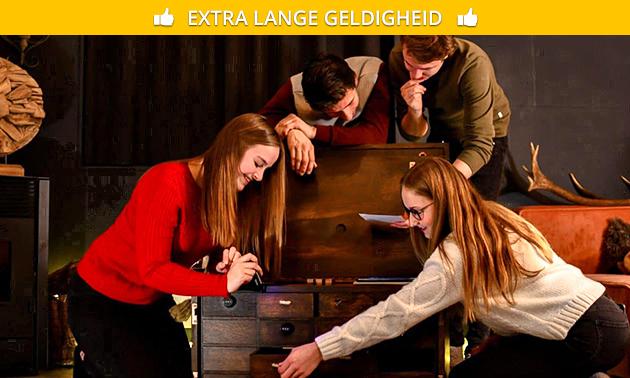 Afhalen: escapespel in houten kist (2-6 personen)