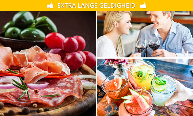 2 cocktails + mixed platter in hartje Antwerpen