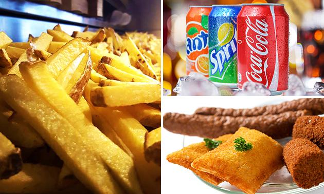 Friet + snack + saus + blikje fris in hartje Venlo
