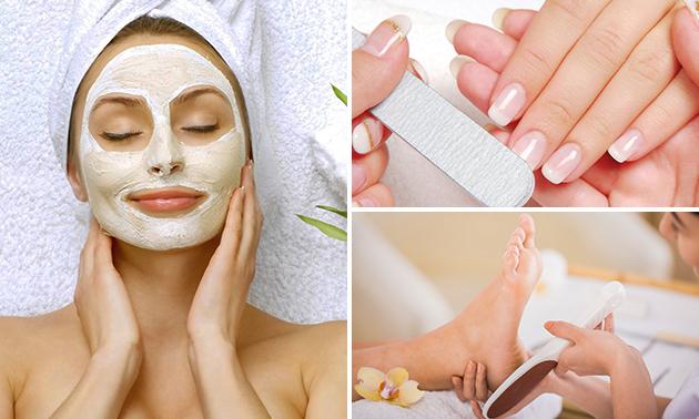 Gelaatsbehandeling + manicure + pedicure (70 min)