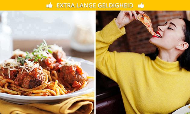 Afhalen: pasta of pizza naar keuze + frisdrank