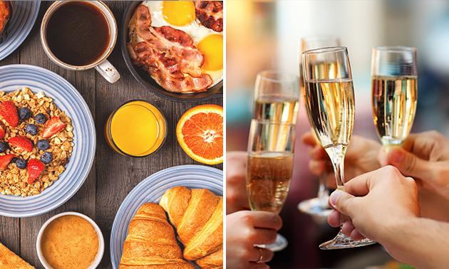 Luxe ontbijt + glaasje bubbels bij La Croisette