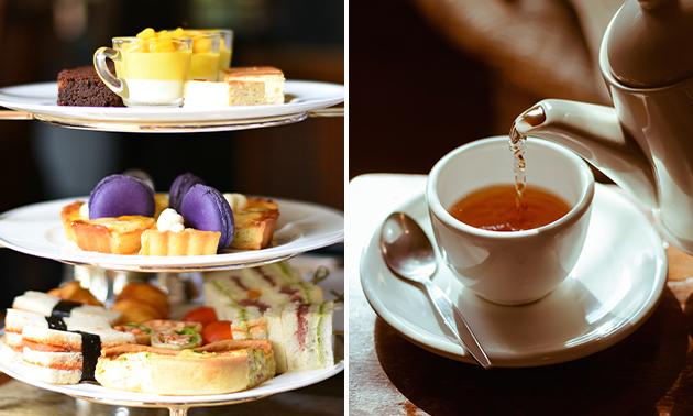 Luxe high tea + bubbles bij La Croisette