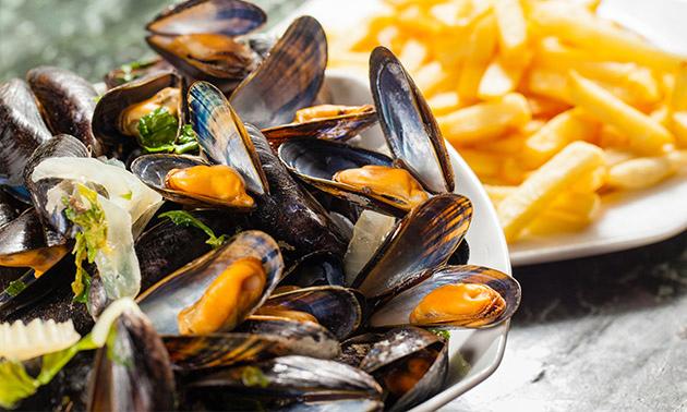 3-gangen mosseldiner of -lunch in hartje Oostende