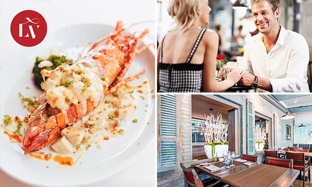 Menu de homard en 5 services chez La Vista