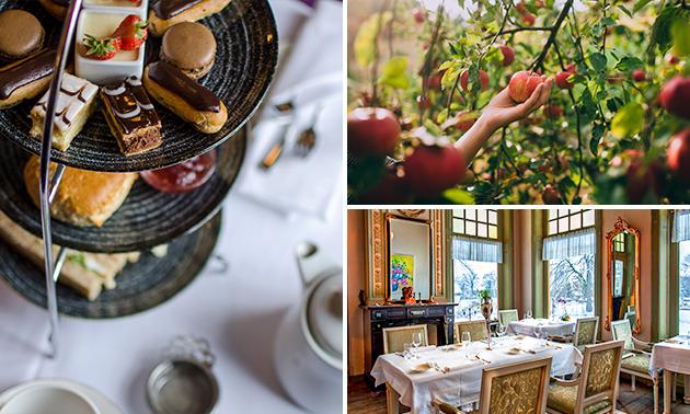 Afhalen: high tea + fruit + jus d'orange bij Landgoed Westerlee