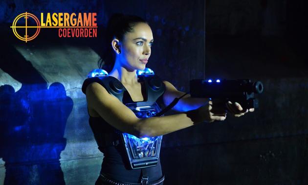 2 spellen lasergame óf lasergame-arrangement