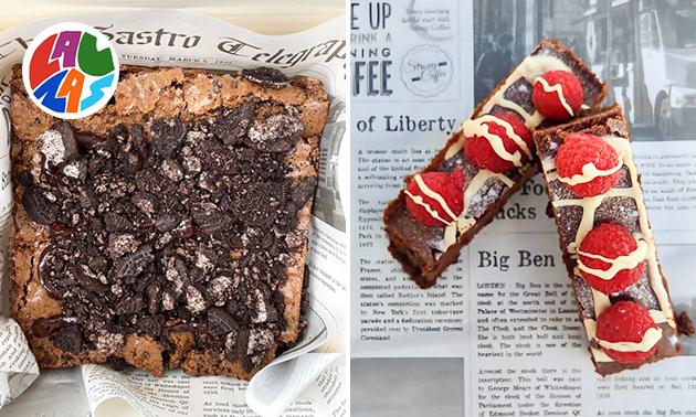 Gratis thuisbezorgd of afhalen: brownie (500 gram)