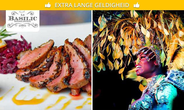 Dinnershow naar keuze + 3-gangendiner in hartje Brussel