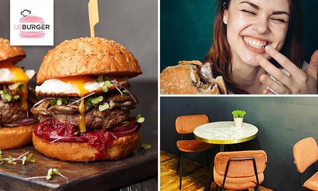 Afhalen: burger + friet + frisdrank bij Le Burger
