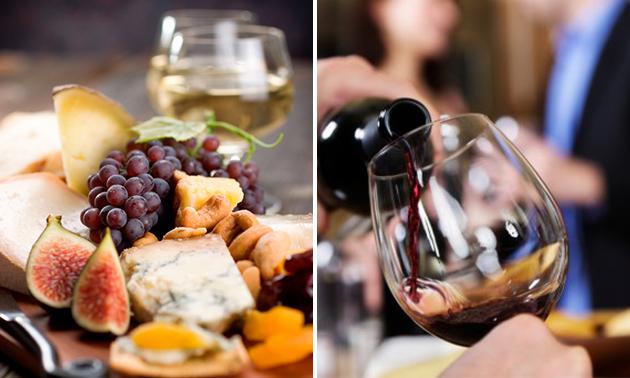 High wine met tapasbord + glas cava